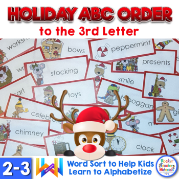 ABC Order to the 3rd Letter - R is for Reindeer