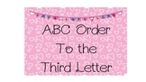ABC Order to the Third!