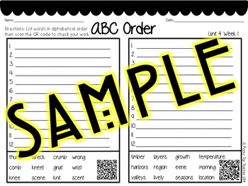 ABC Order with QR Codes