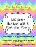 ABC Order with R Controlled Vowels