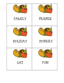 ABC Order with Thanksgiving Words