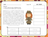 ABC Order with Word Search Unit 2 Bundle - 1st Grade
