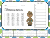 Journeys 2nd Grade Unit 3 Vocabulary - ABC Order with Word Search Bundle