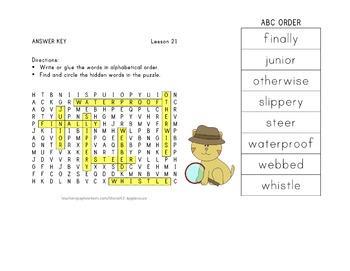 Journeys 2nd Grade Unit 5 Vocabulary - ABC Order with Word Search Bundle