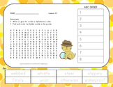 Journeys 2nd Grade Vocabulary - ABC Order with Word Search - Unit 5 Bundle