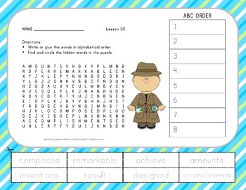 Journeys 2nd Grade Unit 6 Vocabulary - ABC Order with Word Search Bundle