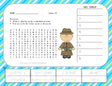 Journeys 2nd Grade Vocabulary - ABC Order with Word Search - Unit 6 Bundle