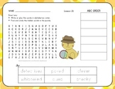 Word Search with ABC Order - The Garden - 1st Grade Lesson 21