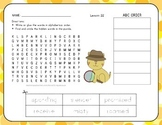 ABC Order with Word Search - Amazing Animals - 1st Grade Lesson 22