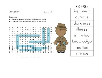 ABC Order and Word Search - Helen Keller - Journeys Aligned