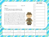 ABC Order and Word Search - The Dog That Dug for Dinosaurs