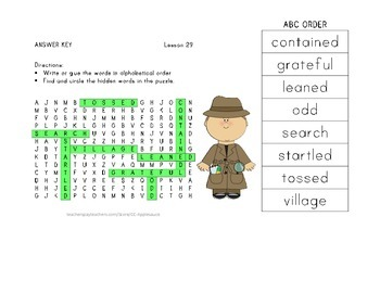 ABC Order and Word Search - Two of Everything - 2nd Grade Lesson 29