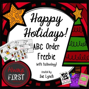 ABC Order {Christmas Vocabulary} Holiday-INDEPENDENT word work using QR CODES