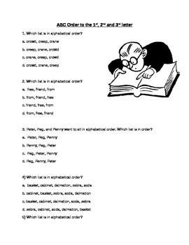 ABC Order/Guide Words Worksheet Packet