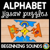 ALPHABET PUZZLES (BEGINNING SOUNDS CENTER KINDERGARTEN ACTIVITY)