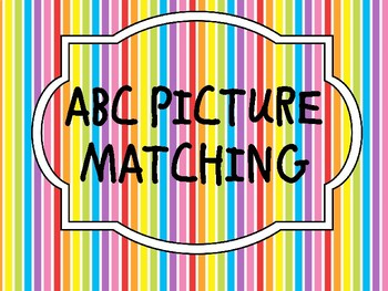 ABC PICTURE MATCHING
