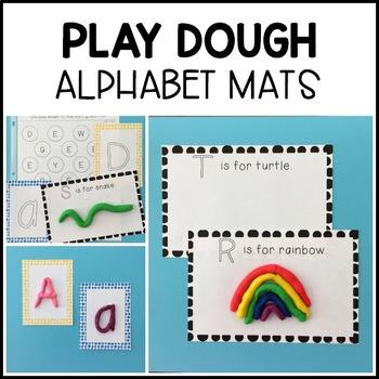 Alphabet Play Dough Mats & Centers