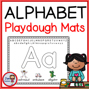 Pre-Writing - Hand and Finger Strength - ABC Play Dough Mats