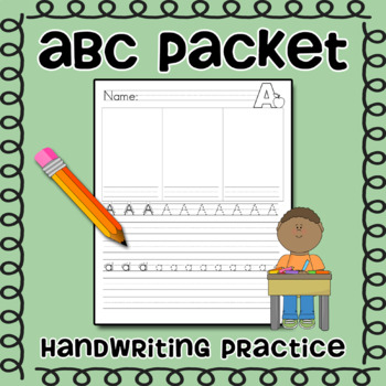 ABC Packet -- Alphabet Writing Packet for Handwriting practice