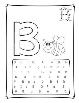 ABC Pages - Rainbow Write, Color, and Find