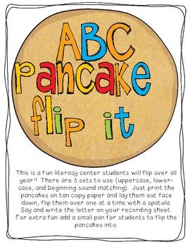 ABC Pancake Flip it! A fun literacy center