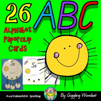 ABC Paperclip Alphabet Cards