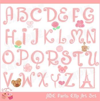 ABC Paris Clipart Set