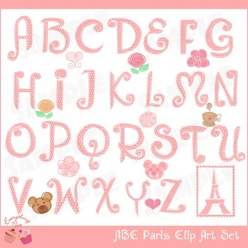 ABC Paris Clipart Set
