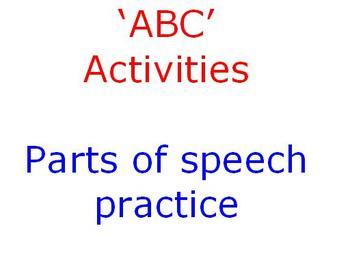 ABC Parts of Speech