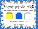 {ABC Pattern Cards} with Unifix Cubes, Blocks, & Bears