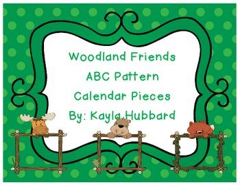 ABC Pattern Woodland Friends Calendar Pieces