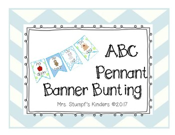 ABC Pennant Banner Bunting Blue