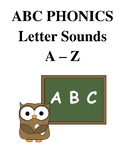 ABC Phonics Activity Letter Sounds A-Z Worksheets