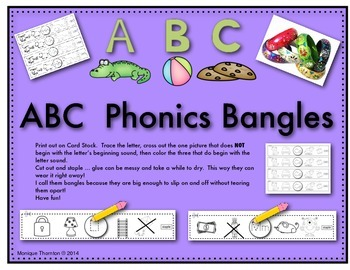 ABC Phonics Bangles/Bracelets