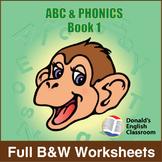 ABC & Phonics, Book 1-Full BW Textbook
