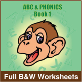 ABC & Phonics, Book 1-Full BW Textbook