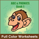 ABC and Phonics Book 1 Full Color Textbook