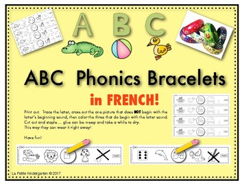 ABC Phonics Bracelets in FRENCH