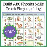 Build ABC Phonics Skills: Teach Fingerspelling!