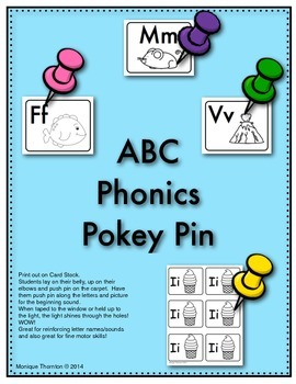 ABC Phonics Pokey Pins