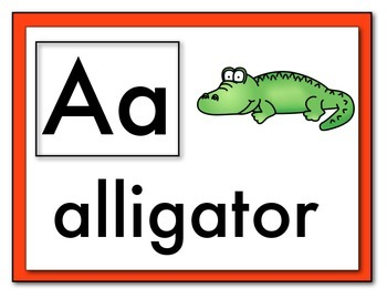 ABC Phonics Word Wall Cards