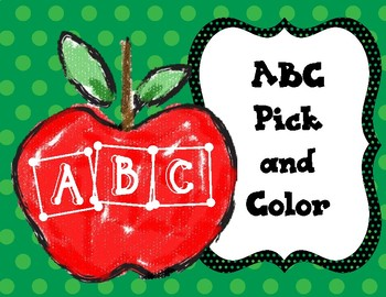 ABC Pick and Color Apples