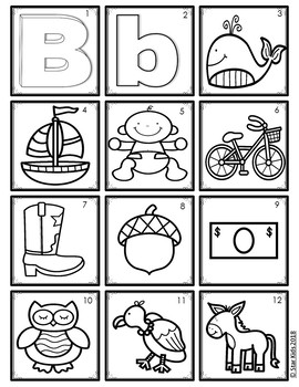 ABC Picture Cards for Kindergarten and First Grade in SPANISH