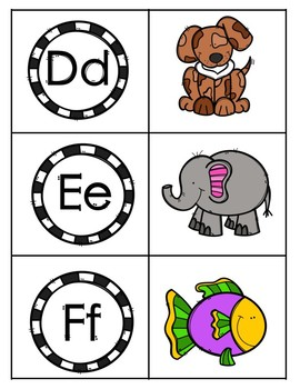 ABC Picture Letter Match