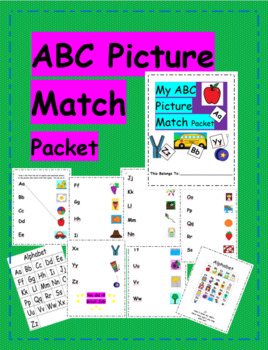 ABC Picture Match Packet
