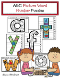 "Alphabet Games: Alphabet ""Picture Word"" Number Puzzles"