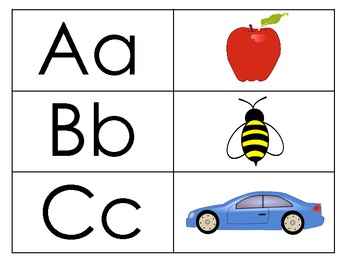 ABC Pictures Matching Card Game