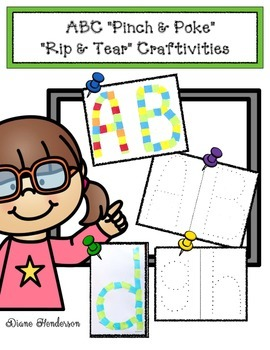ABC Pinch & Poke  Rip & Tear Craftivities Packet