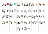 ABC Placemat Mixup for letter recognition