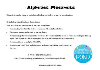 ABC Placemat (Vic Modern Cursive font)